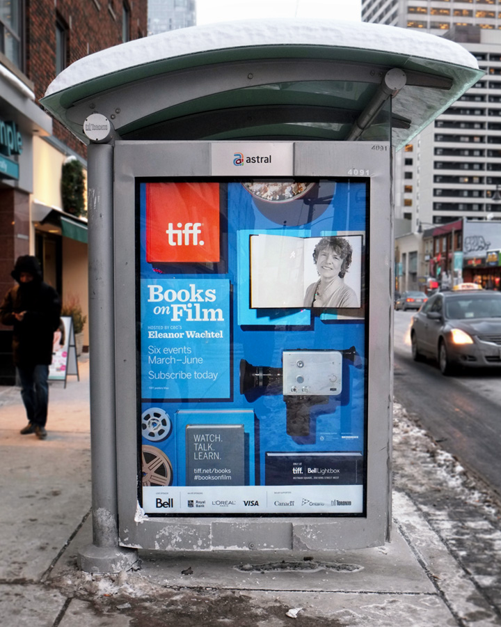 TIFF Books on Film Bus Shelter