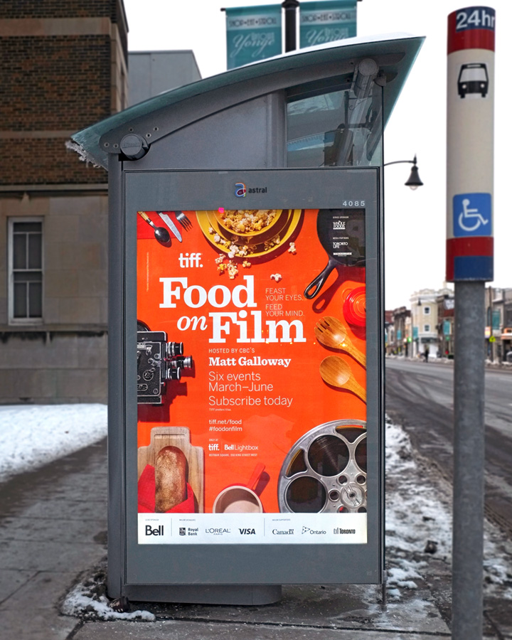 TIFF Food on Film Bus Shelter