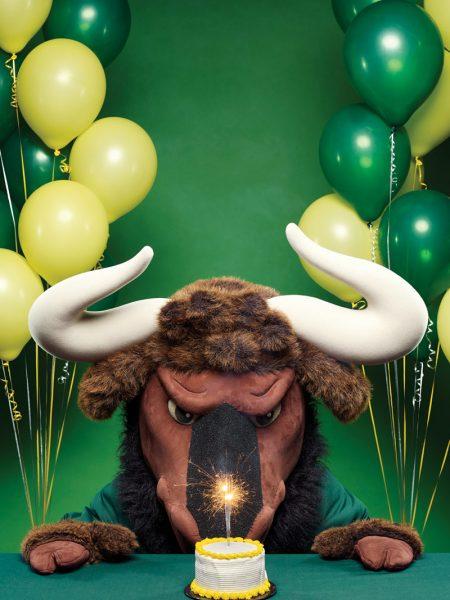 New College Mascot Goliath the Gnu