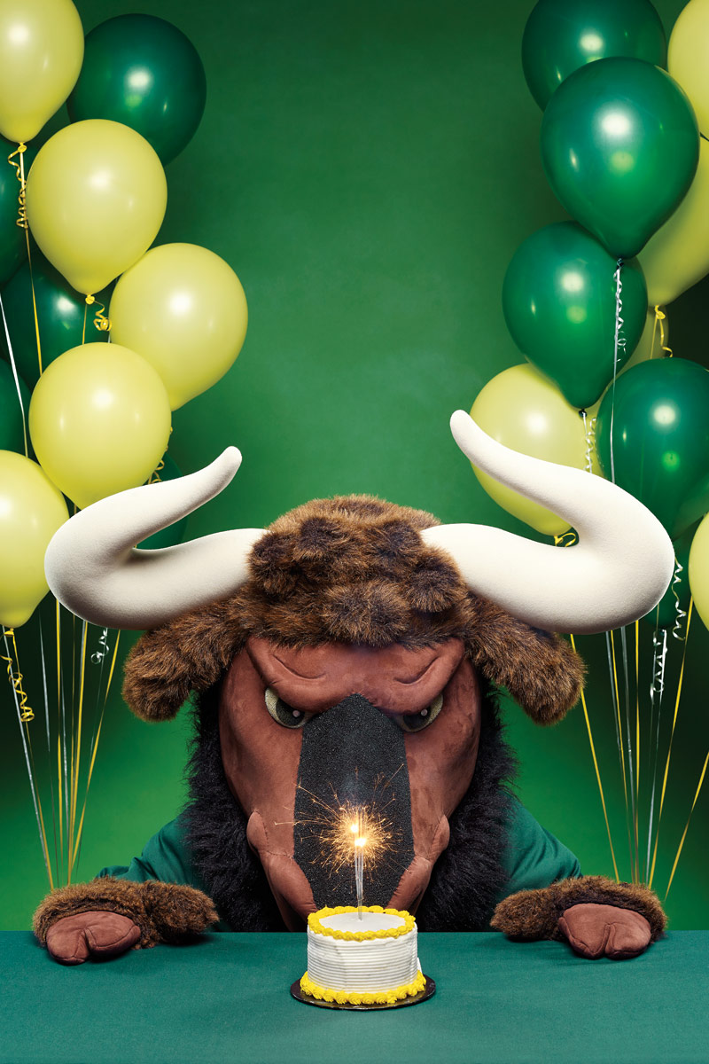 New College Mascot Goliath the Gnu