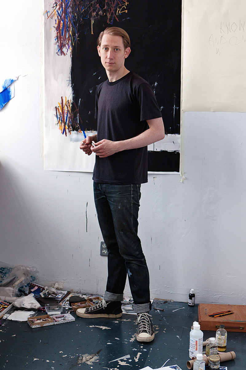 Scott Treleaven in his studio.