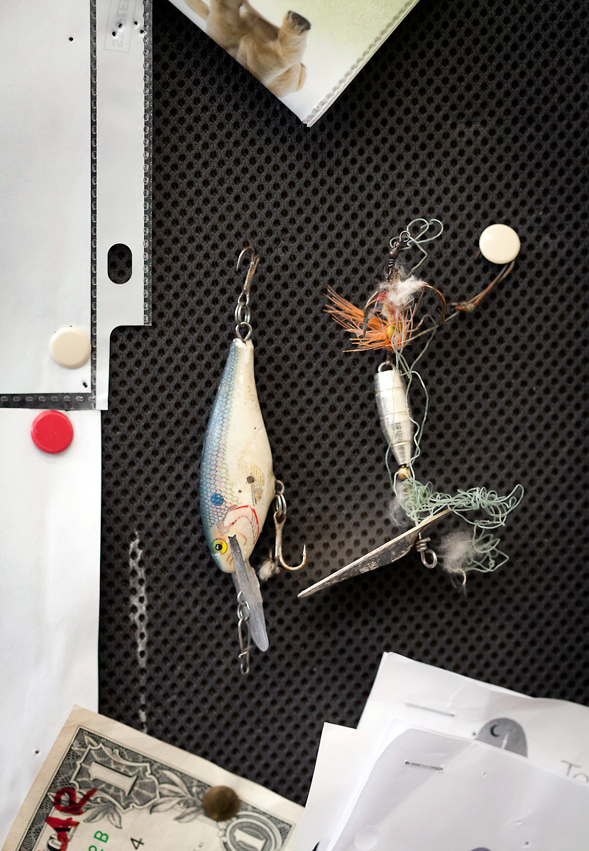 Lures removed from patients at the Toronto Wildlife Centre