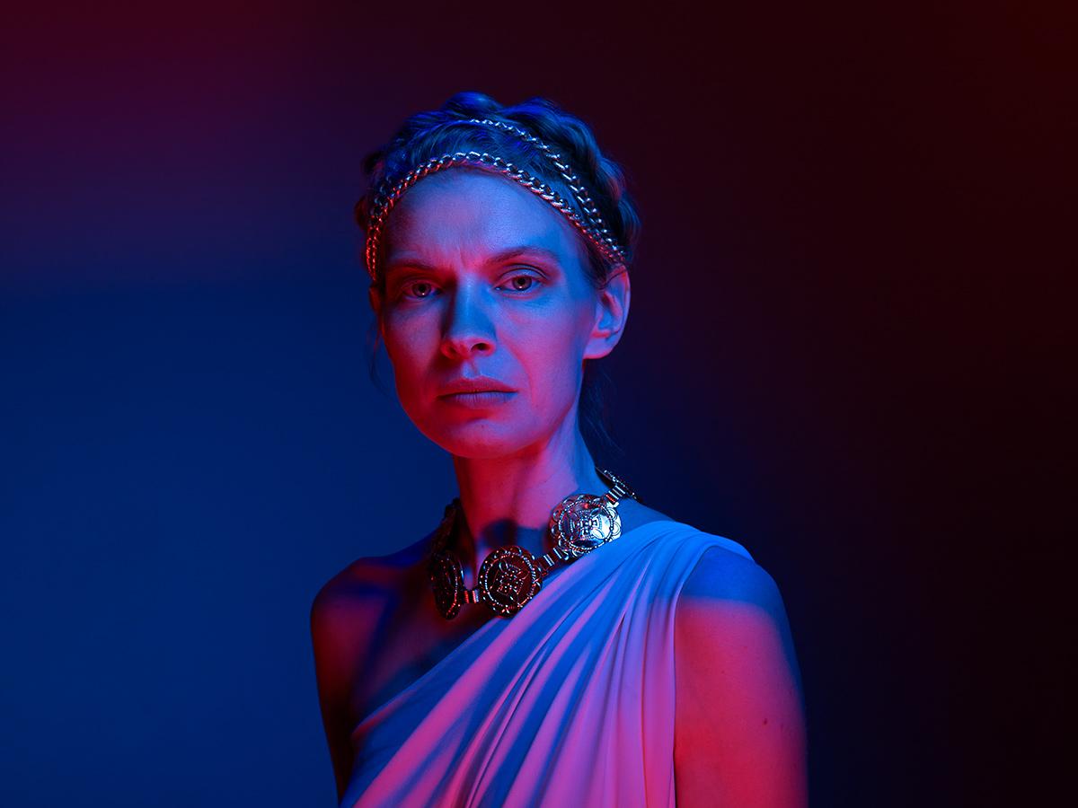 Actress Christine Horne as Portia