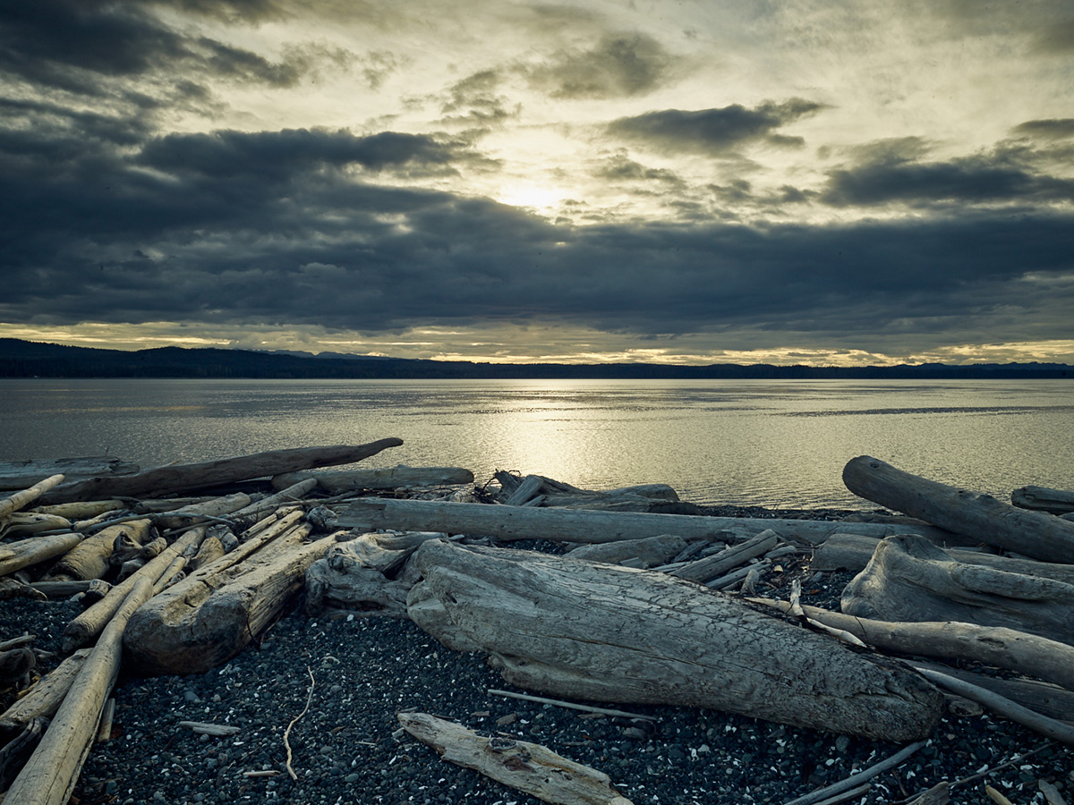 Sunset at Pulteney Point, Sointula, British Columbia.