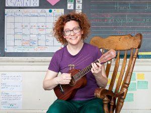 Teacher Velvet Lacasse at The Grove Community School