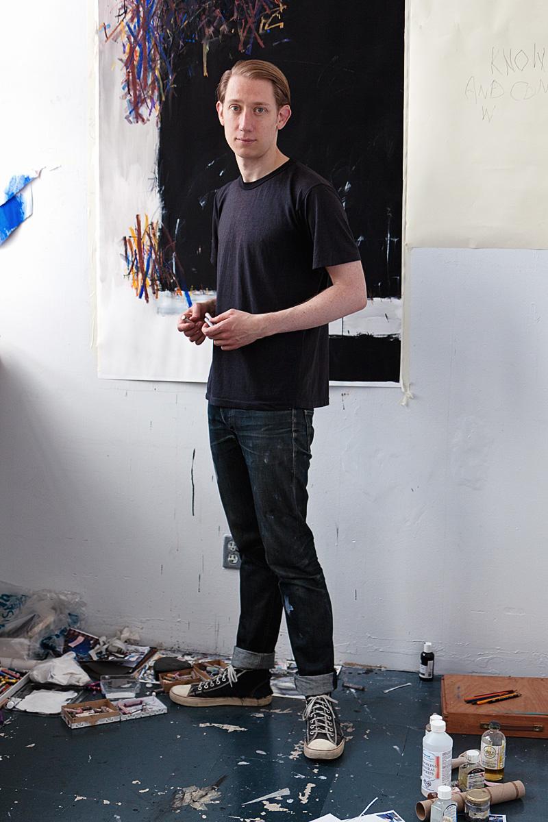 Scott Treleaven in his studio.