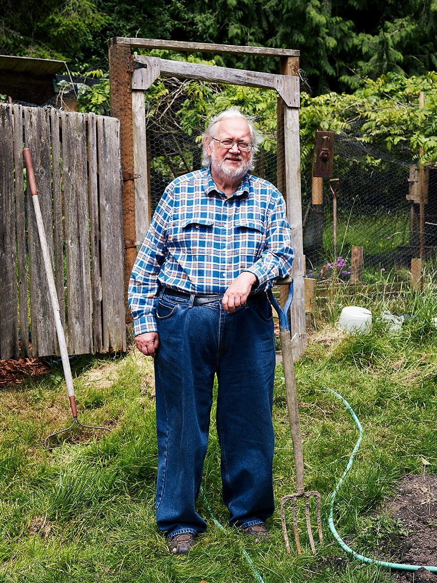 "Writer, storyteller and self-described ""Ne'er-do-well"" Jim Rosgen. Sointula, British Columbia."