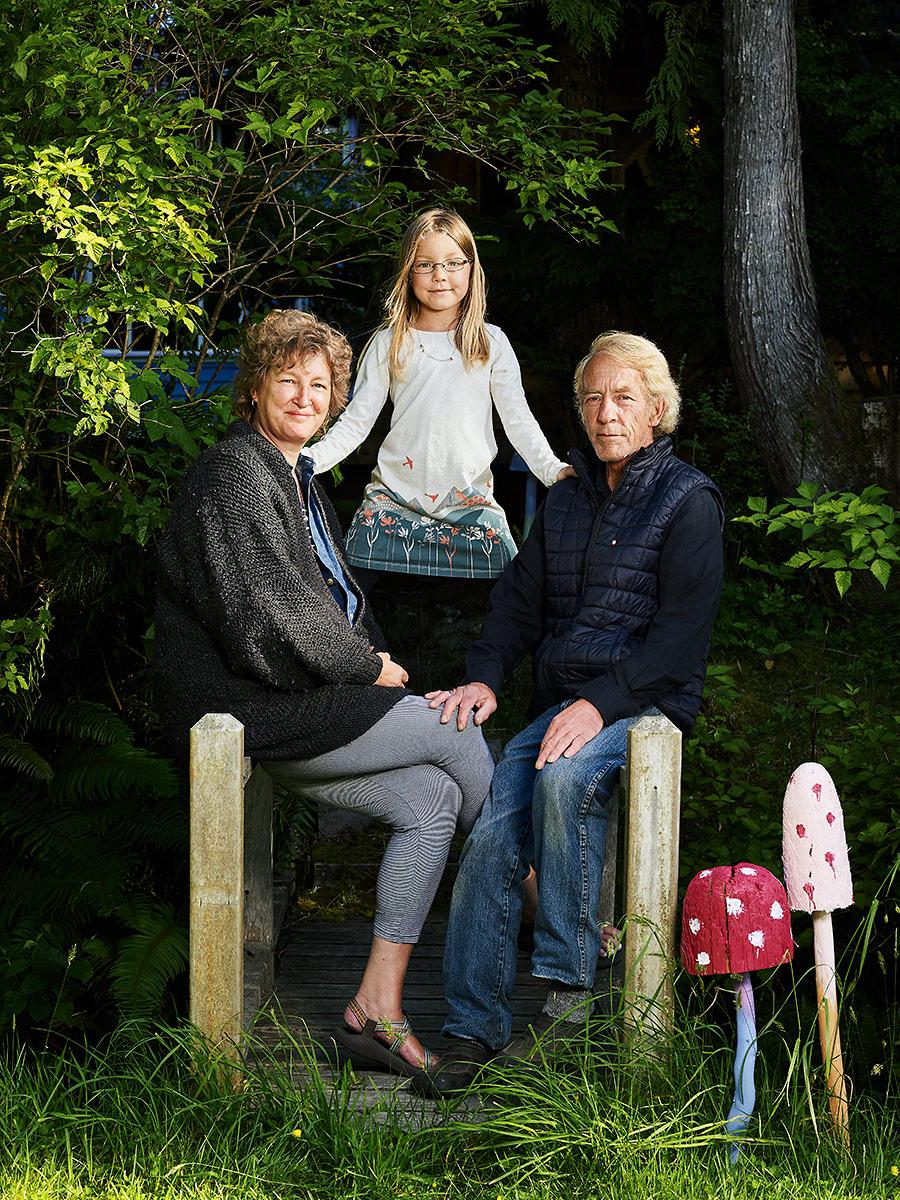 John, Mich, and Ava. Sointula, British Columbia