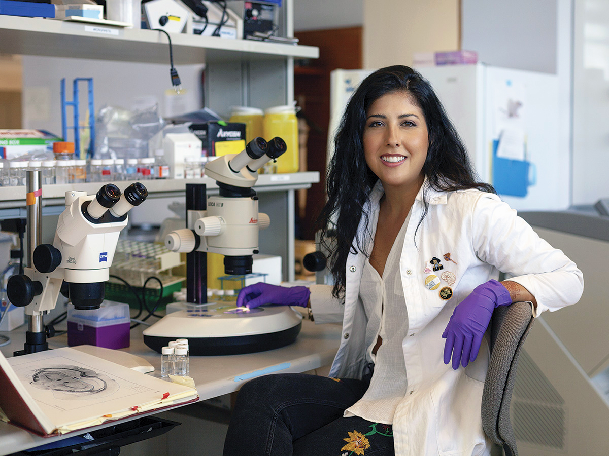Portrait of stem cell researcher and science communicator Samantha Yammine