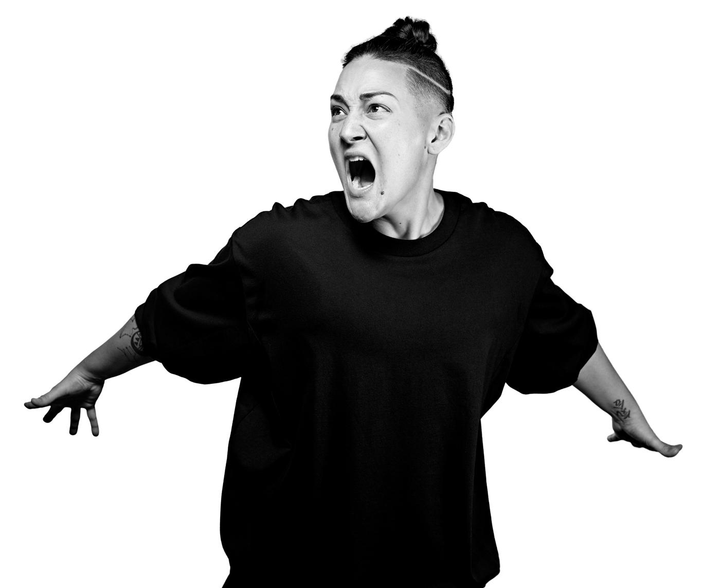 Black and white image of opera singer Teiya Kasahara