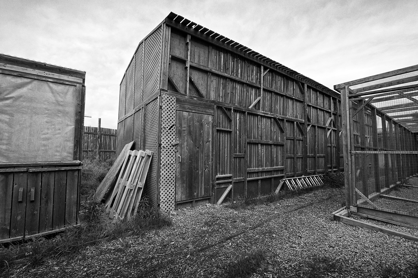 A large wooden building at the Toronto Wildlife Centre